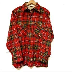 Vintage Woolrich Plaid Tartan Shacket Shirt Large